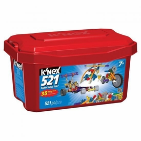 K'NEX 521 Piece Value Red Tub