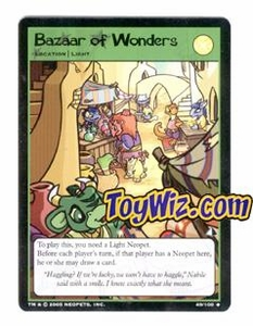 Neopets Trading Card Game Lost Desert Single Card Uncommon 49/100 Bazaar of Wonders