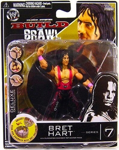 WWE Wrestling Build N' Brawl Series 7 Mini 4 Inch Action Figure Bret Hart