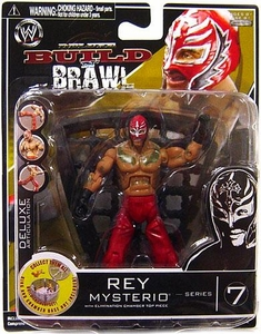 WWE Wrestling Build N' Brawl Series 7 Mini 4 Inch Action Figure Rey Mysterio