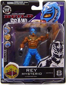 WWE Wrestling Build N' Brawl Series 8 Mini 4 Inch Action Figure Rey Mysterio