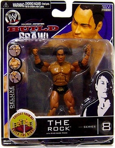 WWE Wrestling Build N' Brawl Series 8 Mini 4 Inch Action Figure The Rock