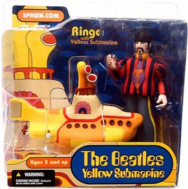 McFarlane Toys Beatles Yellow Submarine Action Figure Ringo with Yellow Sub