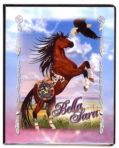 Bella Sara Horses Trading Card Game Collector's Mini Binder Native Lights [Cheyenne with Eagle]
