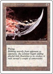 Magic the Gathering Revised Edition Single Card Rare Dancing Scimitar