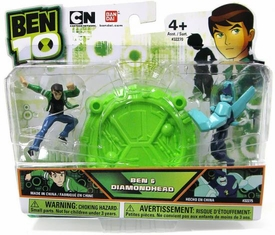 Ben 10 Mini PVC 2 1/2 Inch Figure 2-Pack Ben & Diamondhead