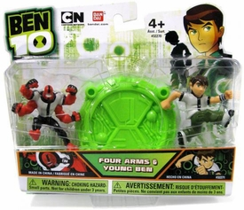 Ben 10 Mini PVC 2 1/2 Inch Figure 2-Pack Four Arms & Young Ben