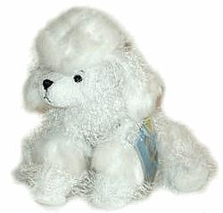 Lil'Kinz Mini Plush White Poodle