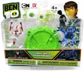 Ben 10 Mini PVC 2 1/2 Inch Figure 2-Pack Way Big & Spidermonkey
