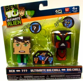 Ben 10 Ultimate Alien AlterAlien 2.5 Inch Transforming Figures Ben to NRG & Big Chill to Ultimate Big Chill