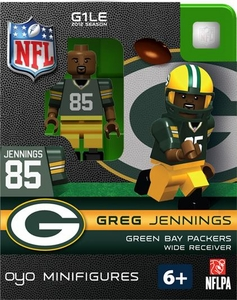 OYO Football NFL Building Brick Minifigure Greg Jennings [Green Bay Packers]