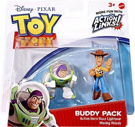 Disney / Pixar Toy Story 3 Action Links Mini Figure Buddy 2-Pack Waving Woody & Protector Buzz Lightyear