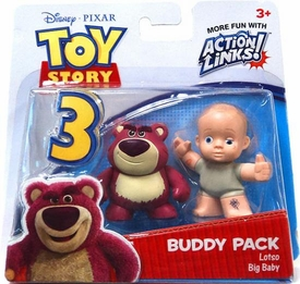 Disney / Pixar Toy Story 3 Action Links Mini Figure Buddy 2-Pack Lotso & Big Baby