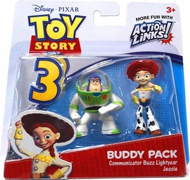 Disney / Pixar Toy Story 3 Action Links Mini Figure Buddy 2-Pack Communicator Buzz & Jessie