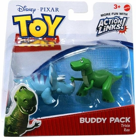 Disney / Pixar Toy Story 3 Action Links Mini Figure Buddy 2-Pack Trixie & Rex