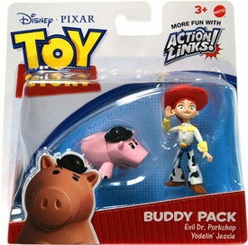 Disney / Pixar Toy Story 3 Action Links Mini Figure Buddy 2-Pack Evil Dr. Porkchop & Yodelin� Jessie