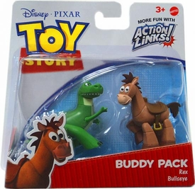 Disney / Pixar Toy Story 3 Exclusive Action Links Mini Figure Buddy 2-Pack Rex & Bullseye