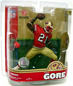 McFarlane Toys NFL Sports Picks Series 16 Action Figure Frank Gore (San Francisco 49ers) Red Jersey