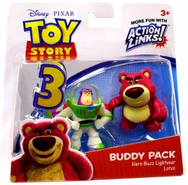 Disney / Pixar Toy Story 3 Action Links Mini Figure Buddy 2-Pack Hero Buzz Lightyear & Lotso