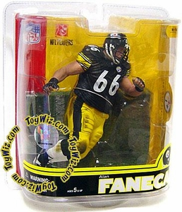 McFarlane Toys NFL Sports Picks Series 16 Action Figure Alan Faneca (Pittsburgh Steelers) Black Jersey Chase Piece
