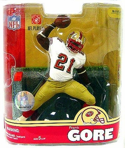 McFarlane Toys NFL Sports Picks Series 16 Exclusive Action Figure Frank Gore (San Francisco 49ers) White Jersey Variant Damaged Package, Mint Contents!