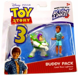 Disney / Pixar Toy Story 3 Action Links Mini Figure Buddy 2-Pack Laser Buzz Lightyear & Ken