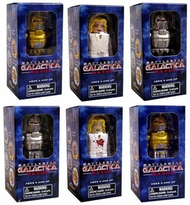 Battlestar Galactica Set of 6 Minimates [Cylon Pilot, Warrior, Commander, Pegasus Six, Gold Cylon Warrior & Dead Pegasus Six]
