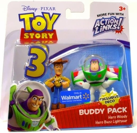 Disney / Pixar Toy Story 3 Exclusive Action Links Mini Figure Buddy 2-Pack Hero Woody & Hero Buzz Lightyear