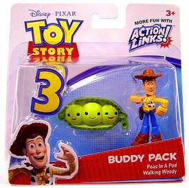 Disney / Pixar Toy Story 3 Action Links Mini Figure Buddy 2-Pack Walking Woody & Peas In A Pod
