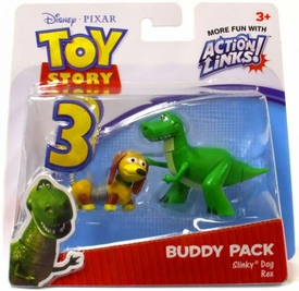 Disney / Pixar Toy Story 3 Action Links Mini Figure Buddy 2-Pack Slinky Dog & Rex