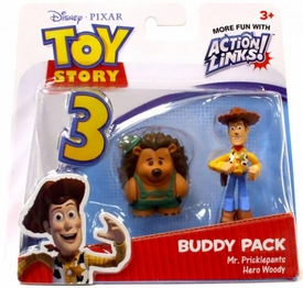 Disney / Pixar Toy Story 3 Action Links Mini Figure Buddy 2-Pack Mr. Pricklepants & Hero Woody