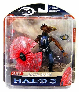 Halo 3 McFarlane Toys Series 3 Action Figure Jackal Major [Plasma Pistol & Energy Shield] COLLECTOR'S CHOICE!