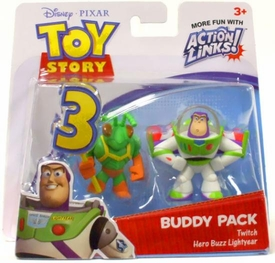 Disney / Pixar Toy Story 3 Action Links Mini Figure Buddy 2-Pack Twitch & Hero Buzz Lightyear