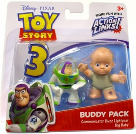 Disney / Pixar Toy Story 3 Action Links Mini Figure Buddy 2-Pack Communicator Buzz Lightyear & Big Baby