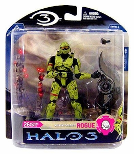 Halo 3 McFarlane Toys Series 3 Action Figure OLIVE Spartan Soldier Rogue Armor [Brute Shot] COLLECTOR'S CHOICE!