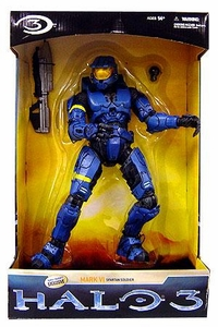 Halo 3 McFarlane Toys Exclusive 12 Inch Deluxe Action Figure BLUE Mark VI Spartan Soldier