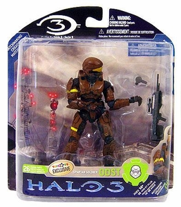 Halo 3 McFarlane Toys Series 3 Exclusive Action Figure BROWN Spartan Soldier ODST [Battle Rifle & Grenade] COLLECTOR'S CHOICE!