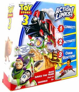 Disney / Pixar Toy Story 3 Action Links Stunt Play Set Buzz Saves the Train BLOWOUT SALE!