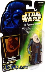 Star Wars POTF2 Power of the Force Hologram Card Bib Fortuna w/ Hold-Out Blaster