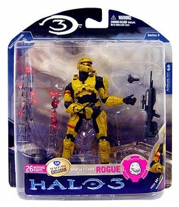 Halo 3 McFarlane Toys Series 3 Exclusive Action Figure GOLD Spartan Soldier Rogue Armor [Battle Rifle & Grenade] COLLECTOR'S CHOICE!