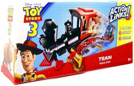 Disney / Pixar Toy Story 3 Action Links Stunt Vehicle Play Set Train Vehicle with Sheriff Woody
