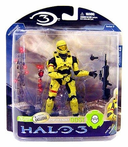 Halo 3 McFarlane Toys Series 3 Exclusive Action Figure PALE Spartan Soldier ODST [Battle Rifle & Grenade]