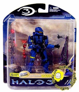 Halo 3 McFarlane Toys Series 3 Exclusive Action Figure BLUE Spartan Soldier Scout COLLECTOR'S CHOICE!