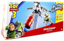Disney / Pixar Toy Story 3 Action Links Stunt Vehicle Play Set Spaceship with Buzz Lightyear