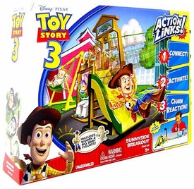 Disney / Pixar Toy Story 3 Action Links Stunt Play Set Sunnyside Breakout