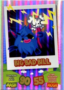 Topps Moshi Monsters Mash Up! Trading Card Game Rainbow Foil Single Card Big Bad Bill