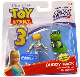 Disney / Pixar Toy Story 3 Exclusive Action Links Mini Figure Buddy 2-Pack Astronaut Barbie & The Bookworm