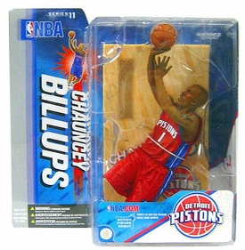 McFarlane Toys NBA Sports Picks Series 11 Action Figure Chauncey Billups (Detroit Pistons)Red Jersey Variant