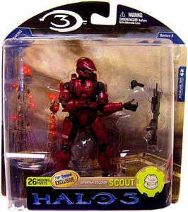 Halo 3 McFarlane Toys Series 3 Exclusive Action Figure CRIMSON Spartan Soldier Scout COLLECTOR'S CHOICE!