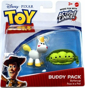 Disney / Pixar Toy Story 3 Exclusive Action Links Mini Figure Buddy 2-Pack Buttercup & Peas in a Pod